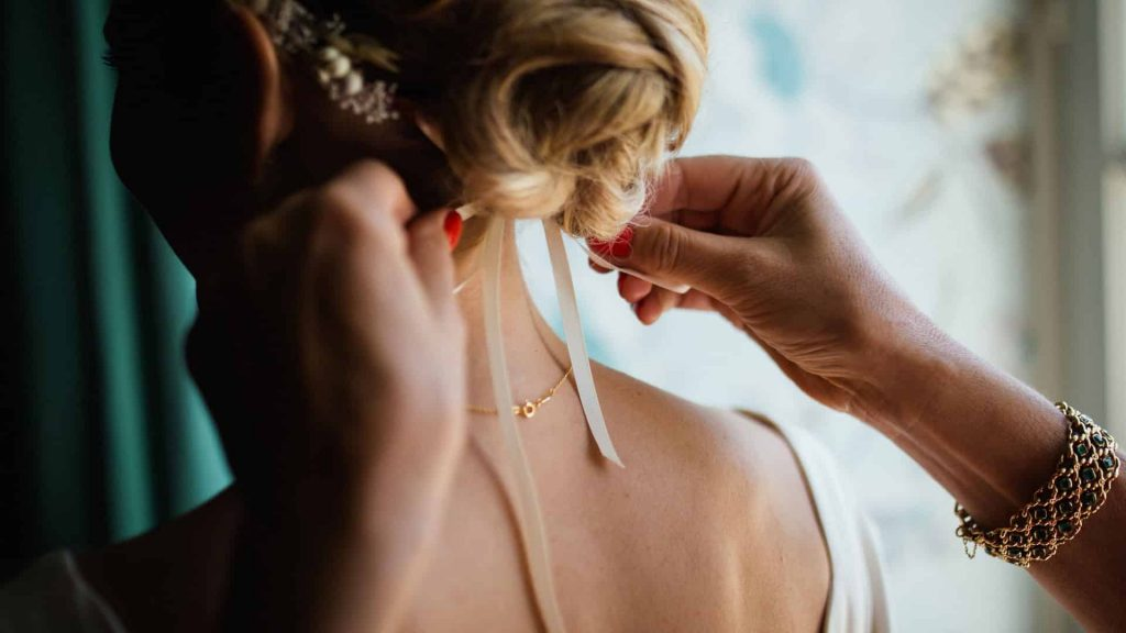 Wedding`s hairstyle